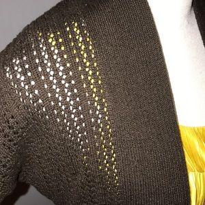 Apt. 9 Sweaters - NWT Apt 9 Brown Short Sleeve Cardigan